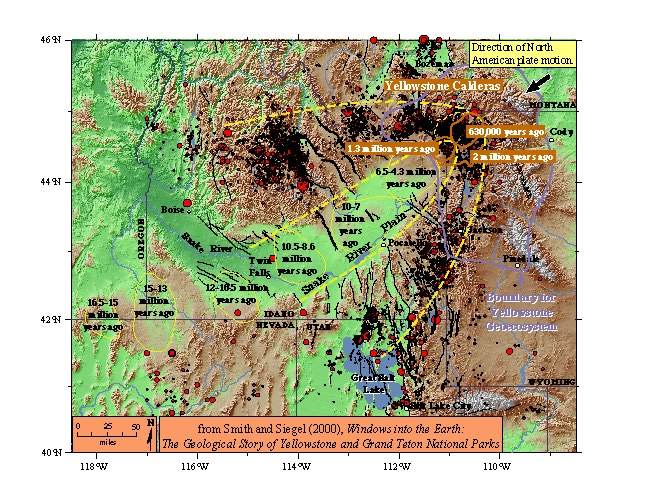 Topographic Map Of Yellowstone.Yellowstone Geodynamics